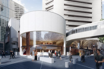 An artist's impression of the Theatre Royal, MLC Centre (view from King Street).