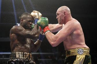 Deontay Wilder (left) fights Tyson Fury.