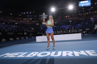 Sofia Kenin after winning this year's Australian Open.