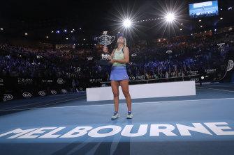 Sofia Kenin after winning this year's Australian Open.