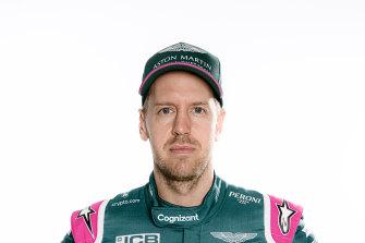 Sebastian Vettel in his new team colours.