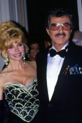 Burt Reynolds and Loni Anderson.