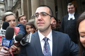 Faruk Orman walks from court a free man on Friday.