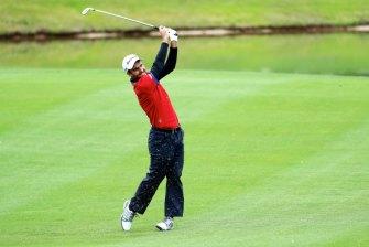 Edoardo Molinari has taken a share of the lead at the Scottish Open.