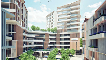 An artist's impression of Catholic Healthcare's proposed aged care facility in Lewisham.