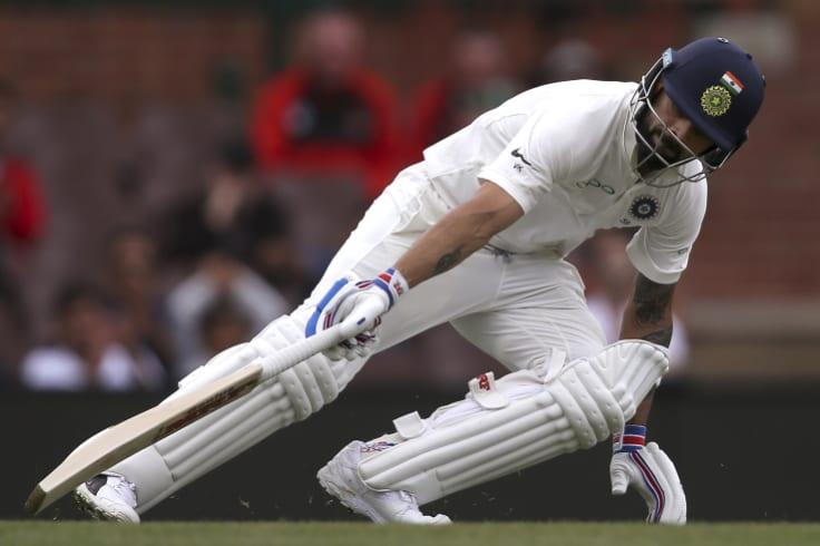 Ticking over: Virat Kohli isn't shy of a few runs in Australia.