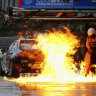 Van Gisbergen evades fire and rain for Supercars win