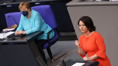 An aspiring successor to Merkel admits 'work of others' in book