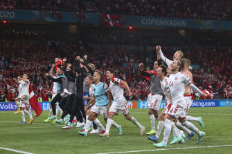 The Danish finally had something to celebrate in front of their home fans in Copenhagen.