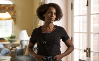 Kerry Washington plays Mia, whose experience and perspective as an African-American woman is central in the show.