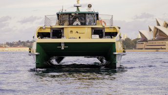 One of the new River-class ferries on Sydney Harbour.