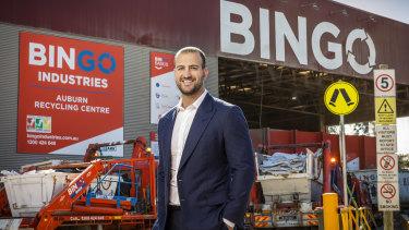 Bingo Industries CEO Daniel Tartak holds a 19.8 per cent stake in the company.