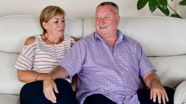 Maree and Rod Patterson are back in Launceston after Mr Patterson was stabbed during the Bourke Street terror attack.