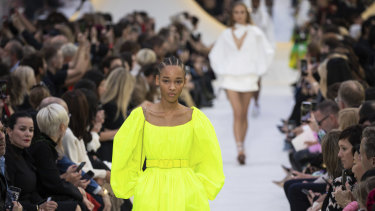 Highlighter hues at Valentino spring summer 2020.