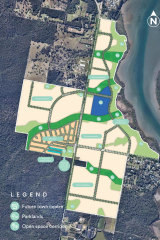 The site will include a town centre, homes and potentially a primary school and foreshore park.