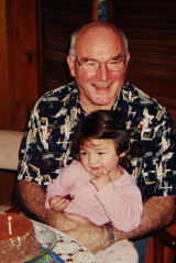 Peter Poulson with Malee, aged 2.
