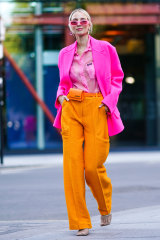 Francesca is a big fan of German influencer Leonie Hanne's use  of bold, bright colours.