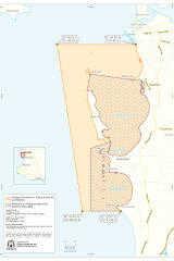 The expanded protection zone.