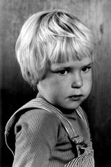 Ditte as a three-year-old in Hirtshals, Denmark.