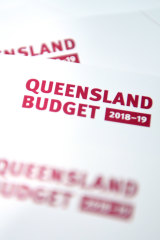 Queensland's 2018/19 state budget booklets.