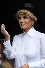 At last year's Melbourne Cup, in an Armani ensemble that set tongues wagging.