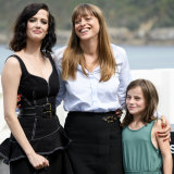 From left, Eva Green, Alice Winocour and Zaline Boulant-Lemesle attend the 'Proxima' photocall during the San Sebastian Film Festival in September 2019.