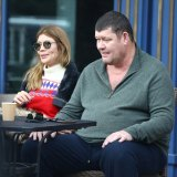 James Packer and Kylie Lim in Aspen last year.