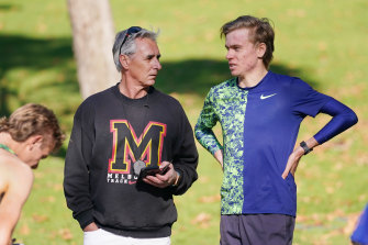 """As long as McSweyn's training is """"comfortably hard"""", it will be enough says coach Nic Bideau: """"He's already a diamond; you don't have to smash him to smithereens to prove it."""""""