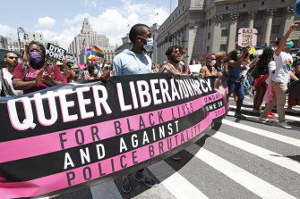 New York's Pride march turned intersectional in the wake of Black Lives Matter protests.
