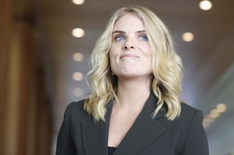 Journalist Erin Molan, pictured in June, is suing the Daily Mail for defamation.