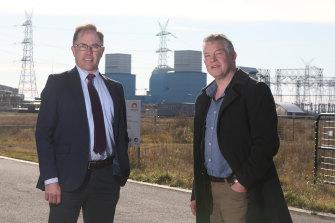 MPs Richard Riordan (left) and Ryan Smith led the charge on Battin's leadership challenge.
