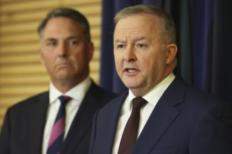 Labor's economic team has worked with deputy leader Richard Marles and Anthony Albanese to settle on a position on tax cuts and negative gearing.