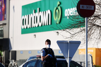 The attack occurred in a Countdown supermarket.