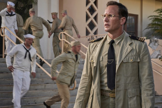 Patrick Wilson stars as intelligence officer Edwin Layton in Midway.