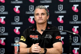 Ivan Cleary after the Panthers' victory on Saturday.