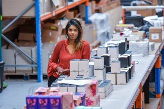 Suji Sanjeevan manufactures candles in Hoppers Crossing.