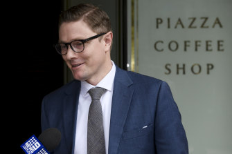 Solicitor Michael Hempsall entered a plea of not guilty on his high-profile client's behalf,