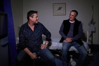 David Pearson and David King at St Vincent's Hospital.