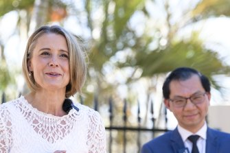 Labor senator Kristina Keneally speaks about her decision to contest the lower house seat of Fowler at the next federal election.