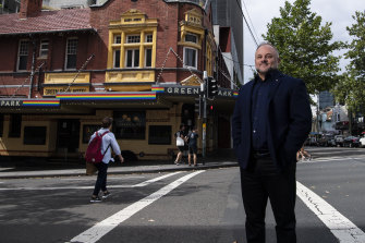 St Vincent's Hospital chief executive officer Anthony Schembri outside the Green Park Hotel in Darlinghurst.