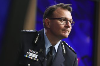 The Australian Federal Police needed to press the green light on raids in Australia because of laws in the US, Commissioner Reece Kershaw said.