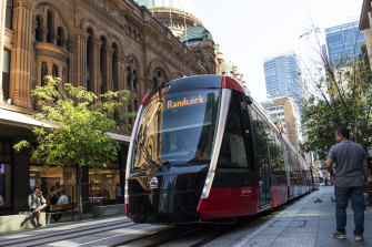 Trams are due to begin carrying passengers along George Street in early December.