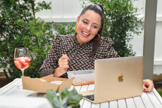 Myf Warhurst makes the most of her Spectrum interface at home in her backyard.