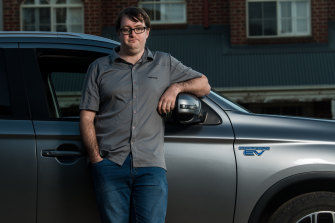Tim Stewart wants to switch from a hybrid to a full electric vehicle, but says he cannot afford to under the Victorian government's policies.