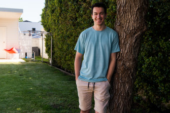 Marcus Thomas is looking forward to doing tutorials and labs for his engineering course on campus at UNSW this year.