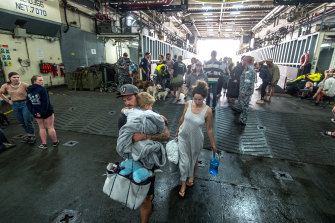 More than 1000 people were evacuated using navy vessel the HMAS Choules after fires trapped them in Mallacoota.