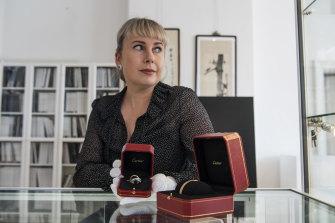 Bonhams Australia director Merryn Schriever in the house's viewing room in 2020.