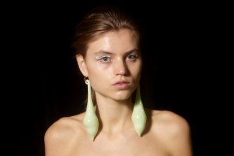 The blown-glass earrings at Ginger & Smart were a standout.