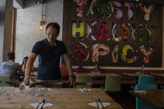 Tawandang restaurant owner Joe Wongpim is hopeful business activity will pick up.