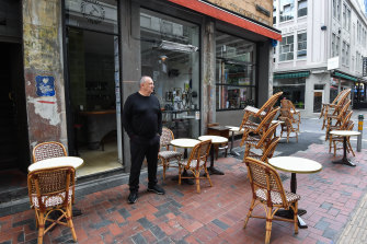 Ian Curley, chef and co-owner at Kirk's Wine Bar on Hardware Lane.